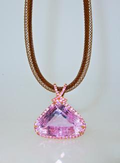Kunzite and Diamond Necklace - 1141441