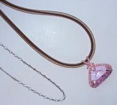 Kunzite and Diamond Necklace - 1141442