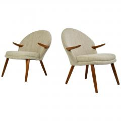 Kurt Olsen Pair of Kurt Olsen Danish Teak Lounge Chairs - 1732601