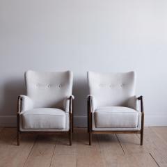 Kurt Olsen Pair of Kurt Olsen Wingback Chairs - 792169