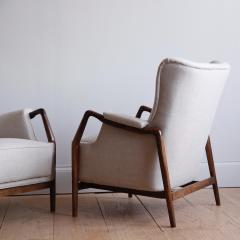 Kurt Olsen Pair of Kurt Olsen Wingback Chairs - 792171
