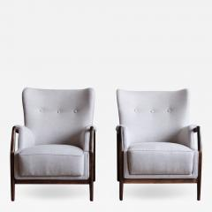 Kurt Olsen Pair of Kurt Olsen Wingback Chairs - 793458