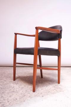 Kurt Olsen Set of Four Teak and Leather Armchairs by Kurt Olsen for Slagelse M belv rk - 1083549