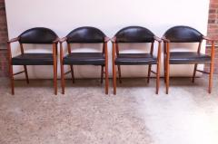Kurt Olsen Set of Four Teak and Leather Armchairs by Kurt Olsen for Slagelse M belv rk - 1083551