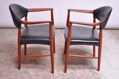 Kurt Olsen Set of Four Teak and Leather Armchairs by Kurt Olsen for Slagelse M belv rk - 1083552