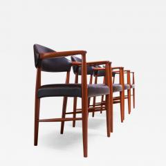 Kurt Olsen Set of Four Teak and Leather Armchairs by Kurt Olsen for Slagelse M belv rk - 1091091