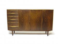 Kurt Ostervig Kurt Ostervig for Brande Mobelfabrik Burled Walnut Cabinet - 1053803