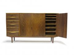 Kurt Ostervig Kurt Ostervig for Brande Mobelfabrik Burled Walnut Cabinet - 1053807