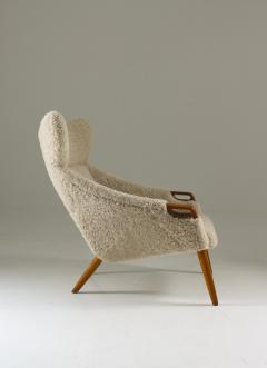 Kurt stervig Danish Lounge Chair in Sheepskin Model 55 by Kurt stervig - 1143492