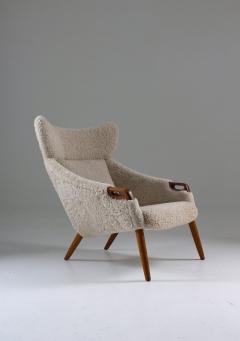 Kurt stervig Danish Lounge Chair in Sheepskin Model 55 by Kurt stervig - 1143494