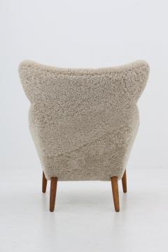 Kurt stervig Danish Lounge Chair in Sheepskin Model 55 by Kurt stervig - 1143495