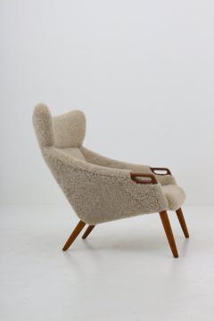 Kurt stervig Danish Lounge Chair in Sheepskin Model 55 by Kurt stervig - 1143496