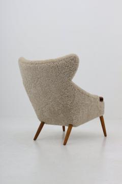 Kurt stervig Danish Lounge Chair in Sheepskin Model 55 by Kurt stervig - 1143497