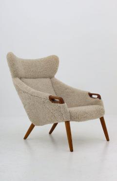 Kurt stervig Danish Lounge Chair in Sheepskin Model 55 by Kurt stervig - 1143498