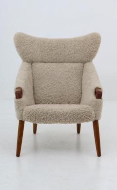 Kurt stervig Danish Lounge Chair in Sheepskin Model 55 by Kurt stervig - 1143499