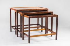 Kurt stervig Danish Mid Century Nesting Tables in Rosewood by Kurt stervig - 959303