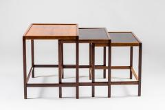 Kurt stervig Danish Mid Century Nesting Tables in Rosewood by Kurt stervig - 959305