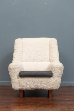 Kurt stervig Kurt Ostervig Kurt Ostervig Lounge Chair Model 61 in Lambswool - 1934617