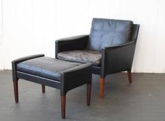 Kurt stervig Kurt stervig Leather Lounge Chair and Ottoman - 378295