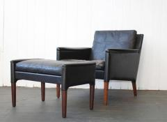 Kurt stervig Kurt stervig Leather Lounge Chair and Ottoman - 378296