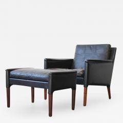 Kurt stervig Kurt stervig Leather Lounge Chair and Ottoman - 379329