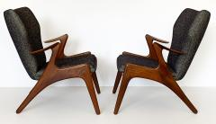 Kurt stervig Pair of Kurt Ostervig Sculptural Lounge Chairs - 1154402