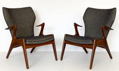 Kurt stervig Pair of Kurt Ostervig Sculptural Lounge Chairs - 1154403