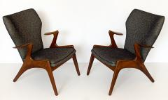 Kurt stervig Pair of Kurt Ostervig Sculptural Lounge Chairs - 1154404