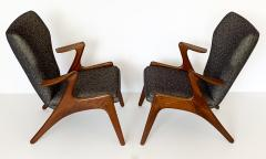 Kurt stervig Pair of Kurt Ostervig Sculptural Lounge Chairs - 1154405