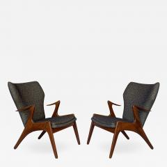 Kurt stervig Pair of Kurt Ostervig Sculptural Lounge Chairs - 1155746