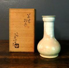Kyusetsu Miwa X Hagi Ikebana Vase by Kyusetsu Miwa X Japanese Studio Pottery - 1079729