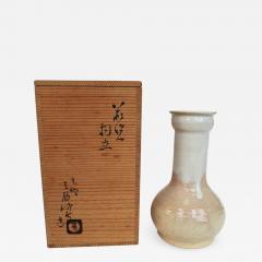 Kyusetsu Miwa X Hagi Ikebana Vase by Kyusetsu Miwa X Japanese Studio Pottery - 1080464