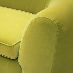 L A Studio L A Studio Contemporary Lime Cotton Velvet Curved Italian Sofa - 1550073
