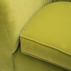 L A Studio L A Studio Contemporary Lime Cotton Velvet Curved Italian Sofa - 1550074