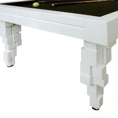L A Studio L A Studio Contemporary Modern Brutalism Style White Pool Table - 1549990