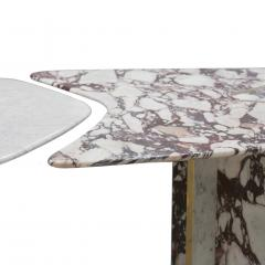 L A Studio L A Studio Contemporary Modern Marble and Brass Italian Dining Table - 1465878