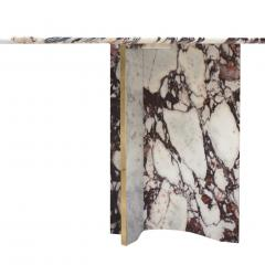 L A Studio L A Studio Contemporary Modern Marble and Brass Italian Dining Table - 1465881