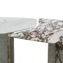 L A Studio L A Studio Contemporary Modern Marble and Brass Italian Dining Table - 1465883
