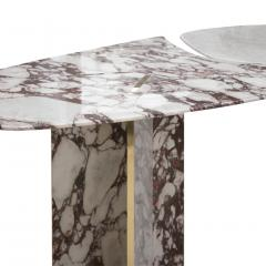 L A Studio L A Studio Contemporary Modern Marble and Brass Italian Dining Table - 1465884