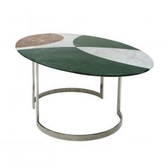 L A Studio L A Studio Contemporary Modern Marble and Steel Italian Dining Table - 1469485