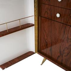 L A Studio L A Studio Lacquered White Wood Paolo De Poli Handles Italian Drinks Cabinet - 1796641