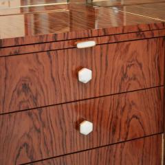L A Studio L A Studio Lacquered White Wood Paolo De Poli Handles Italian Drinks Cabinet - 1796643