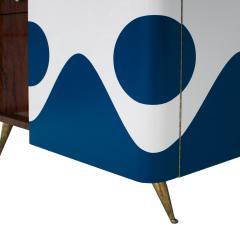 L A Studio L A Studio Lacquered White Wood Paolo De Poli Handles Italian Drinks Cabinet - 1796644
