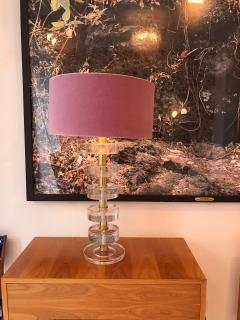 L A Studio Mid Century Modern Style Pair of Sculptural Murano Glass Italian Table Lamps - 1855381