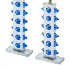 L A Studio Pair of Table Lamps With Colored Murano Glass - 1449109