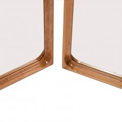 L Chr Larsen Pair of wooden mirrors cabinetmaker L Chr Larsen 1940s - 1467916