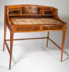 L on Jallot Leon Jallot Sculpted Walnut Desk and Chair - 1549781