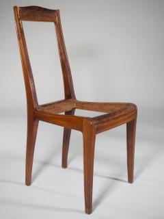 L on Jallot Leon Jallot Sculpted Walnut Desk and Chair - 1549783