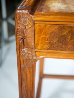 L on Jallot Leon Jallot Sculpted Walnut Desk and Chair - 1549784