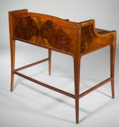 L on Jallot Leon Jallot Sculpted Walnut Desk and Chair - 1549785